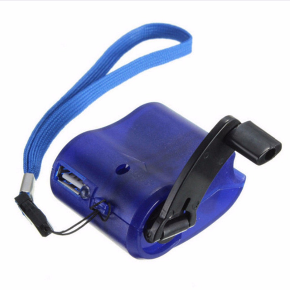Universal Portable Emergency Hand Power USB Charging Charger Hand Crank for Mobile Phones Camping Backpack Survival Tool
