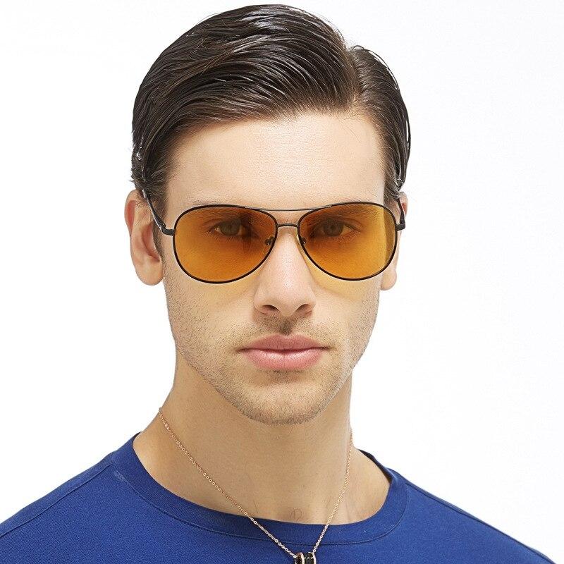 4a3a07c217 2016 nuevo patrón luz polarizada visión nocturna Gafas de Sol Espejo  conductor defensa glare Gafas hombre visión nocturna Gafas de sol a103
