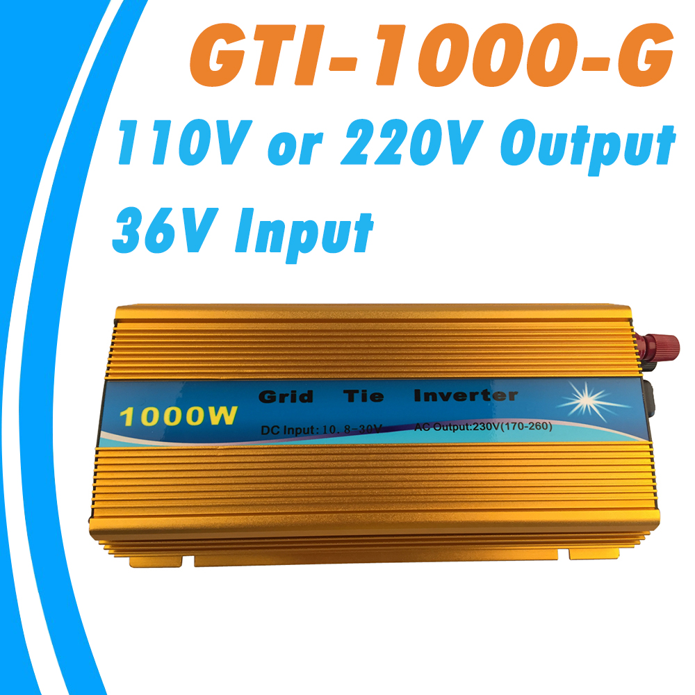 1000W Grid Tie Micro Inverter MPPT Function Input 20V~40V Output 90V-140V or 190V-260V for 1200W 24V Solar Panel and Wind Power