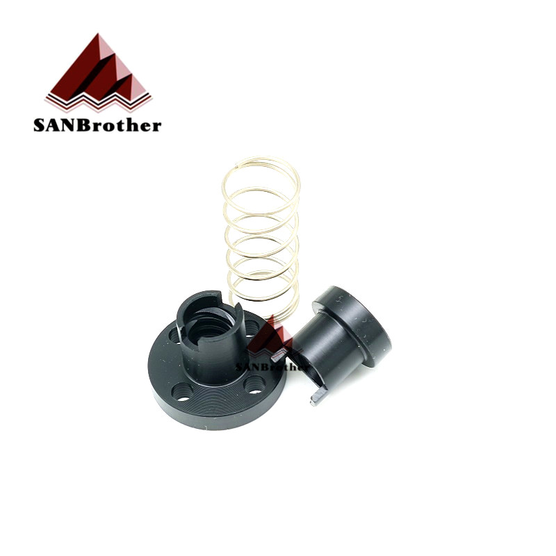 3D Printer T8 POM Anti Backlash Nuts For Lead 2mm / 4mm / 8mm Acme Threaded Rod Eliminate The Gap Spring DIY CNC Accessories