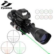 4-12X50EG Тактический Воздушный пистолет Красный Зеленый точечный Лазер прицел голографический оптический прицел охота Airsofts Riflescope