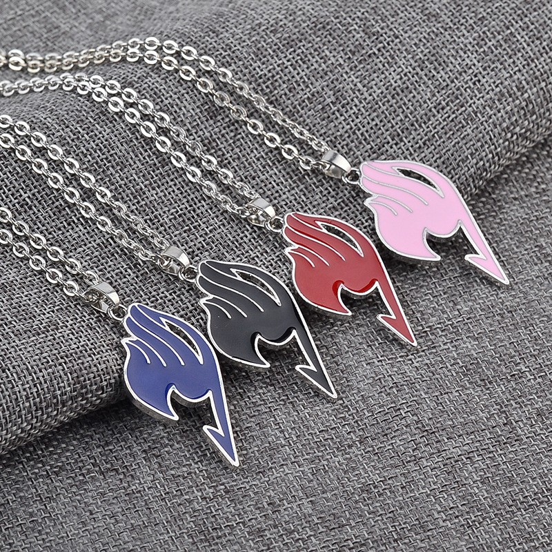 2016 New Fairy Tail Necklace Game Anime Fairy Tail Guild Sign Necklaces Jewelry Link Chain Collier Mujer Collares Kolye