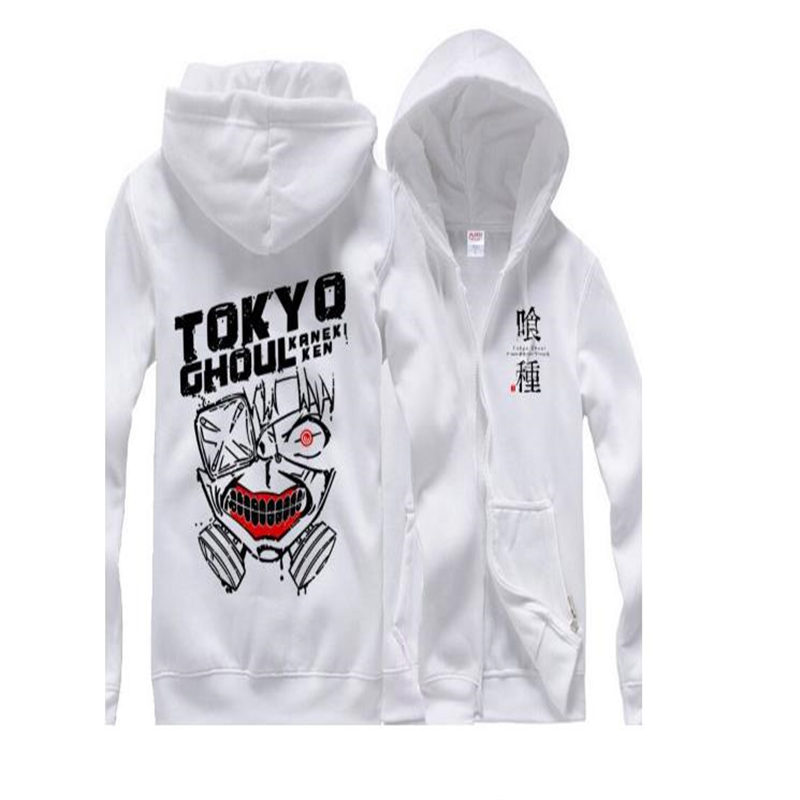 Tokyo Ghoul Hooded Coat Tokyo Cocooned Zipper Coat Jin Muyan Spring Hooded Anime Clothes for Men and Women