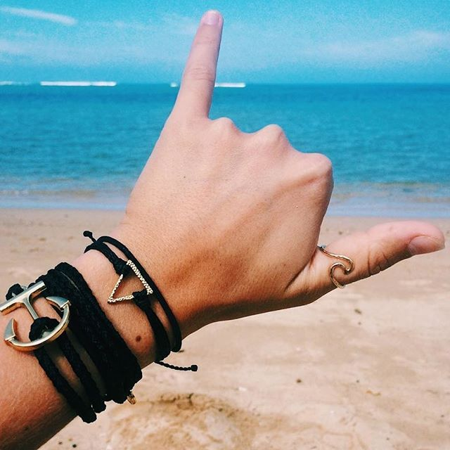 Handmade Ride The Wave Braided Wax Bracelet