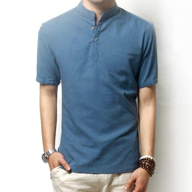 Рубашки поло классический ретро мужчины поло свободные лето тонкий и дышащий элегантный стиль