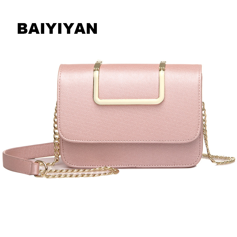 Fashion Women's PU Leather Crossbody Designer Handbag Chain Ladies Shoulder Bag Classic Messenger Bag