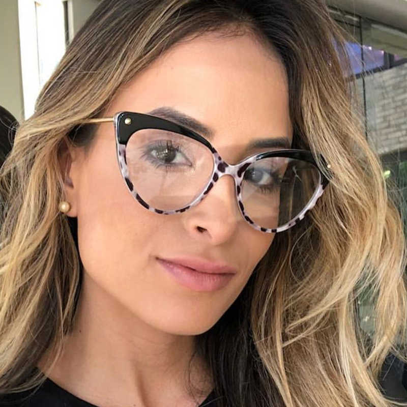 19c90e84f0 Qpeclou vintage cat eye glasses frame women retro flower eyeglasses frame  female glasses round face jpg