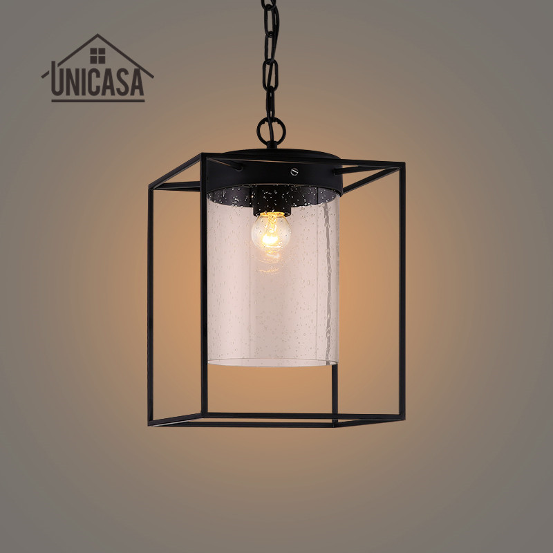 Glass Pendant Light Vintage Industrial Lighting Living