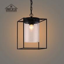 Glass Pendant Light Vintage Industrial Lighting Living Room Lamps Hotel Kitchen Island LED Lights Antique Pendant Ceiling Lamp недорого
