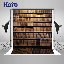 Kate  10x10ft Retro Bookcase Photography Backdrops Books Children Backdrop Back To School Photo Backgrounds