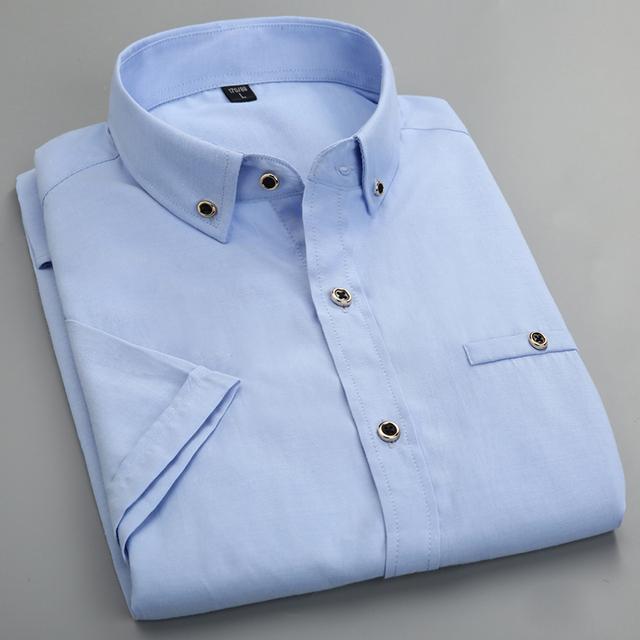 2016 Verão Estilo Coreano Slim fit Manga Curta Mens Shirts Designer Collar Homens Marca de Roupa Masculina China Vestido de Camisas Sociais