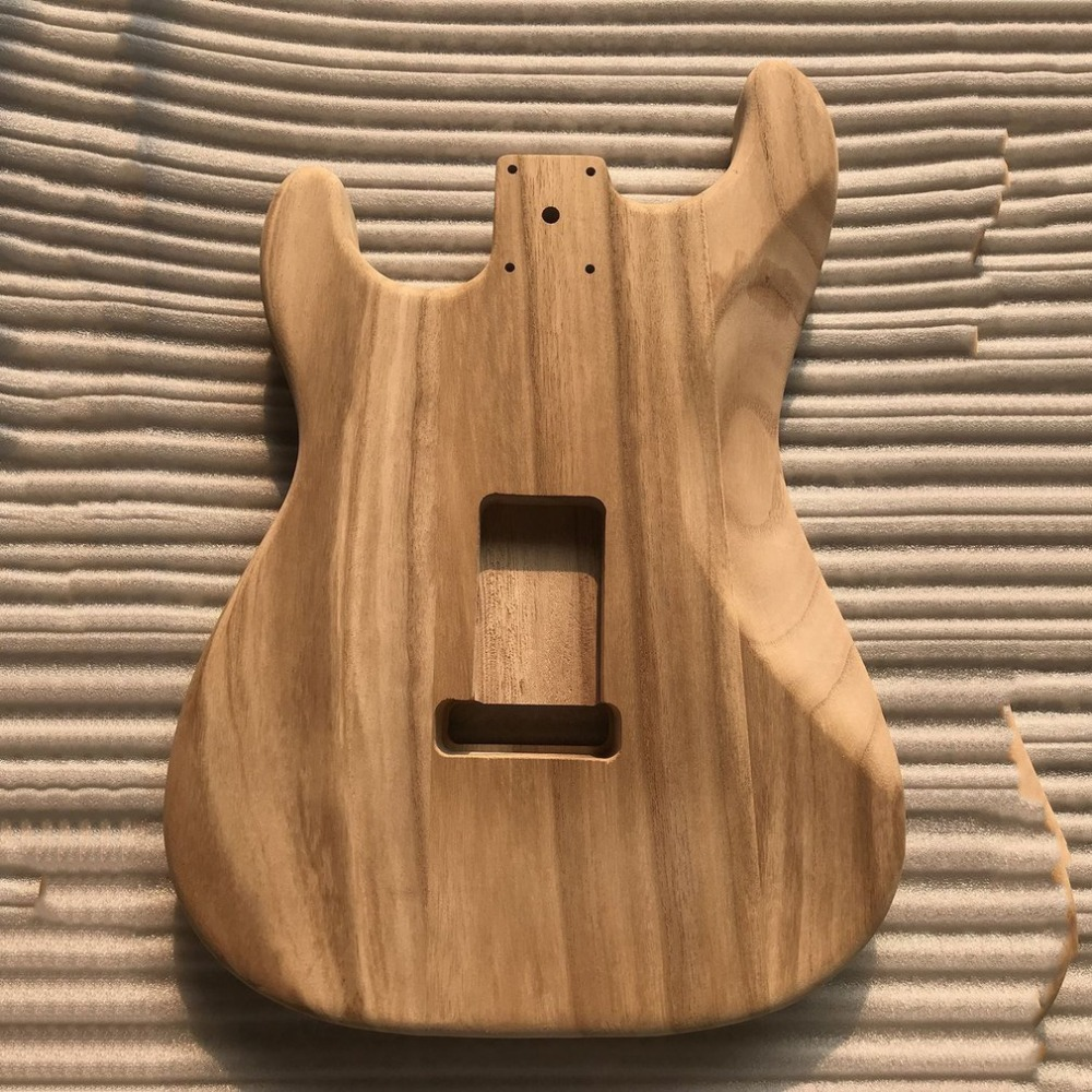 цена Unfinished DIY Guitar Body Maple Body For ST Style Guitar ST electric guitar body alderwood guitar DIY accessory