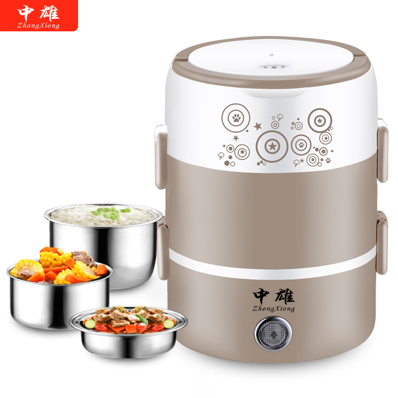 Electric lunch box Automatic Thermal lunch box Pluggable Heating lunch box 1 2 3 people heating Cooking lunch box Rice cooker multi function electric lunch box stainless steel tank household pluggable electric heating insulation lunch box