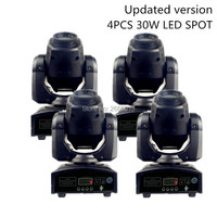 4pcs/lot Newest 30W LED Spot Moving Head Light/30W Gobo Home Party KTV DJ Disco Lights/LED Patterns Effect Stage Lighting Lamp