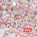 Todos os Tamanhos Rosa AB/Light rose AB Não Hotfix strass De Vidro Flatback Strass Cristal Decorações Da Arte Do Prego Para Unhas H0040
