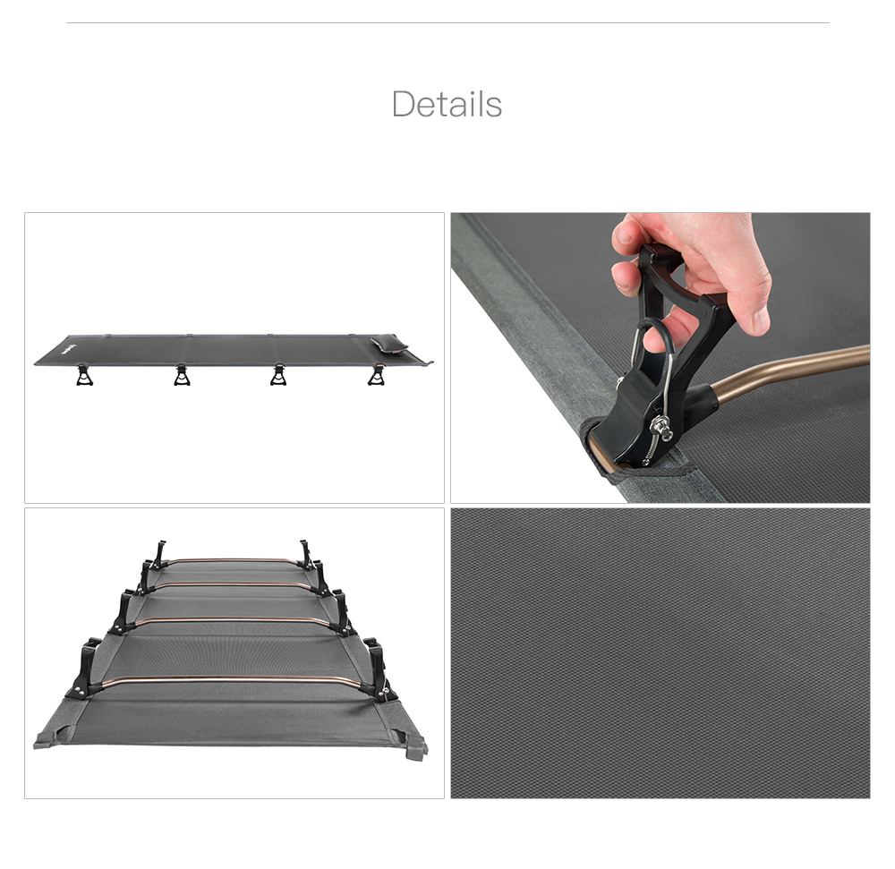 KingCamp-Ultralight-Single-Folding-Bed-Weight-Capacity-120KG-Camping-Cot-Aviation-Aluminum-Portable-Hiking-Travel-Comfortable -5