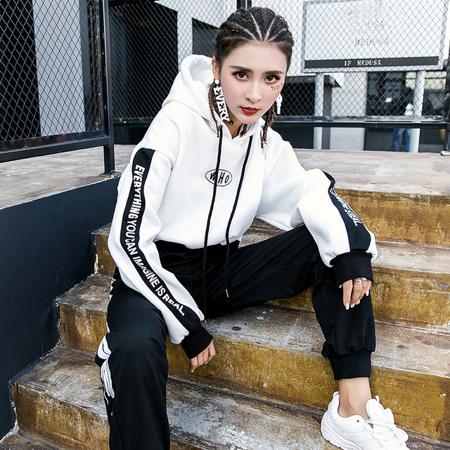 2018 Spring Women Fashion Hip Hop Hoodies Sweatshirts Us Size-in ... eafd921da
