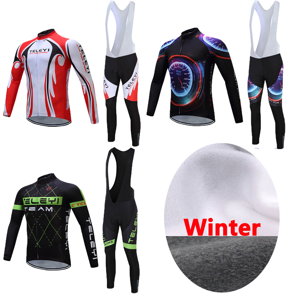 Men 2017 Pro Team Winter Thermal Fleece Cycling Jersey Sets Male Racing Bike Clothing Kits MTB Sports Suits Bicycle Clothes Wear santic men cycling sets short sleeve pro fit anti uv racing team sports wear mtb road jersey cycling clothing male wm6ct056b