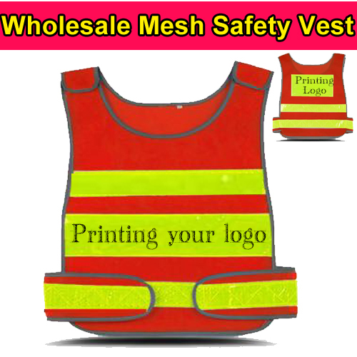 Workplace Safety Supplies Spardwear High Visibility Mesh Reflective Safety Vest Logo Printing Free Shipping Security & Protection