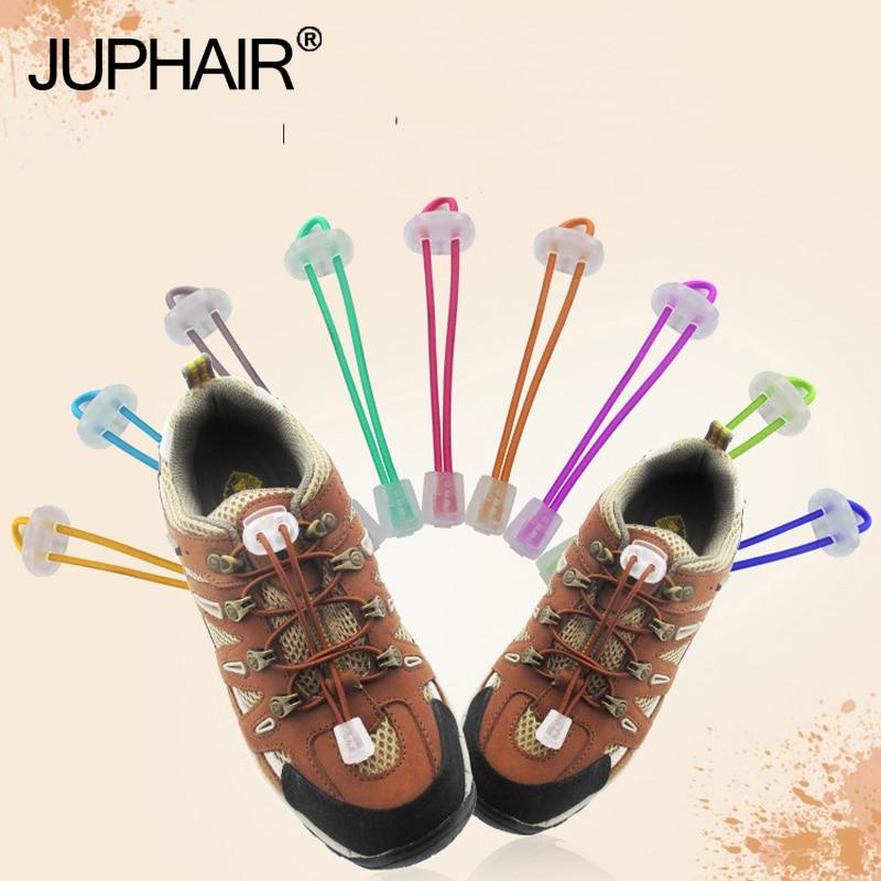 JUP3 Pair No Tie Locking Lazy ShoeLaces Sneaker Elastic Shoelaces Adult Children Elastic Athletic Sneaks Transparent Lace Buckle