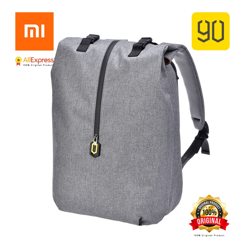 Xiaomi 90 Original Leisure Daypack Business Water Resistant Backpack 14 Laptop Bag College School Travel Trip for Man & Woman men original leather fashion travel university college school book bag designer male backpack daypack student laptop bag 9950
