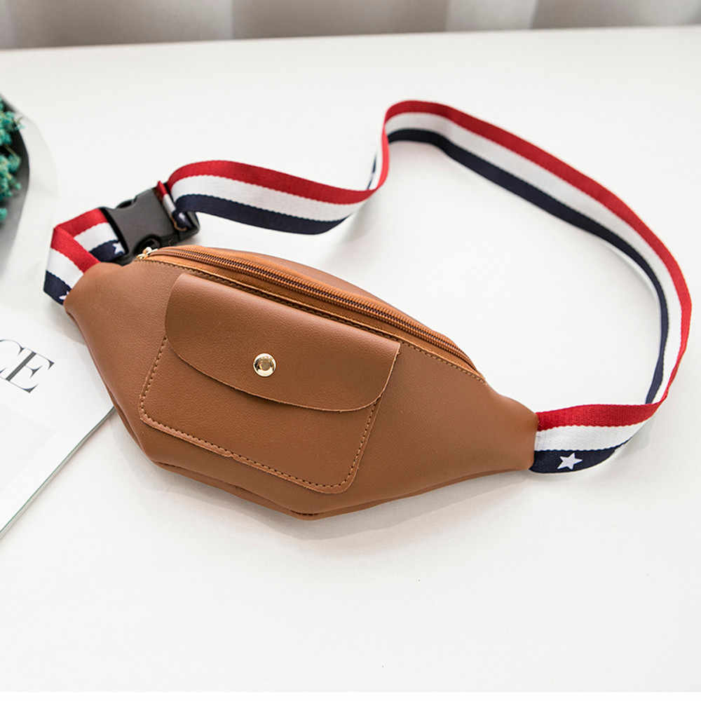 c9bab3897f7a ... 2019 Fashion Solid Women Waist Bag Chest Leather Waist Bag Unisex  Zipper Fanny Pack Belly Bags ...