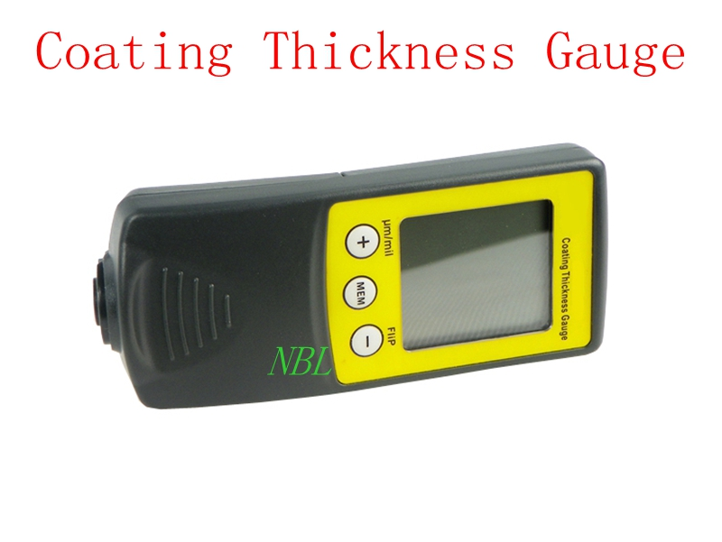New Digital FILM Coating Thickness Gauge Paint Meter Tester 8801F 0-1250um 50mil Ferrous Type With Retail Package Free Shipping retail package free shipping new digital film coating thickness gauge paint meter tester with battery for car paint thickness
