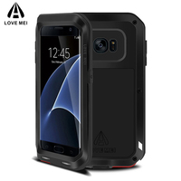 LOVE MEI Brand Metal Case For Samsung Galaxy S7 Edge Cover Aluminum Armor Shockproof Case For Samsung Galaxy S7 Edge Capa Fundas