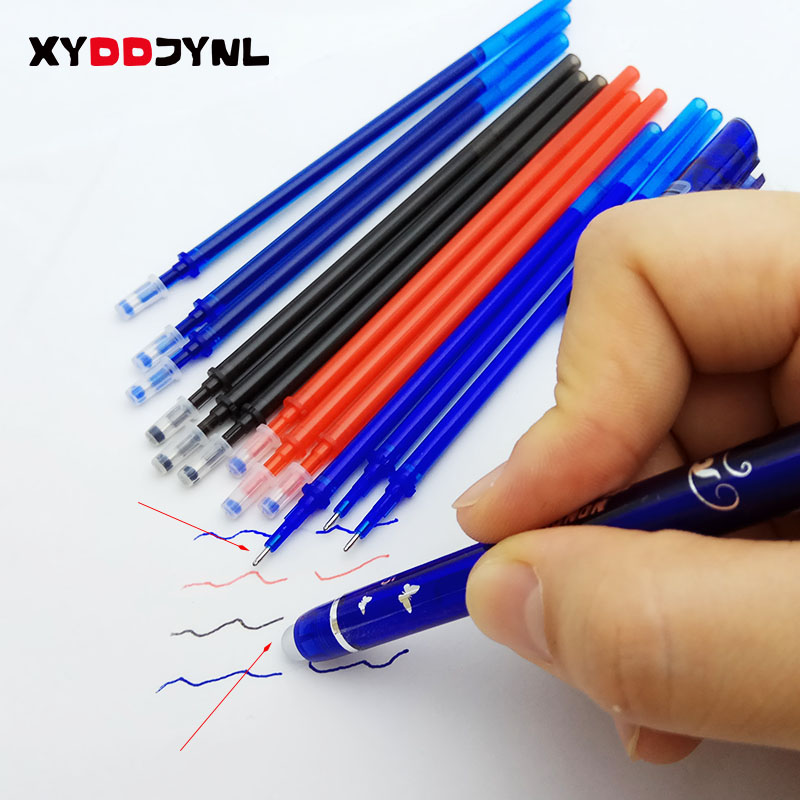 10pcs Office Signature Gel Pen Refill Magic Erasable Pen Accessories 0.5mm 4color Ink Writing Tools Material Escolar