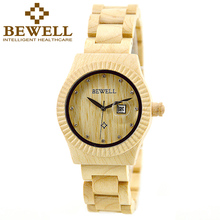 BEWELL Wood Watch Women Fashion Watch 2016 Brand Watch Ladies Analog Wood Wristwatch Women Relogio Feminino with Box 064B