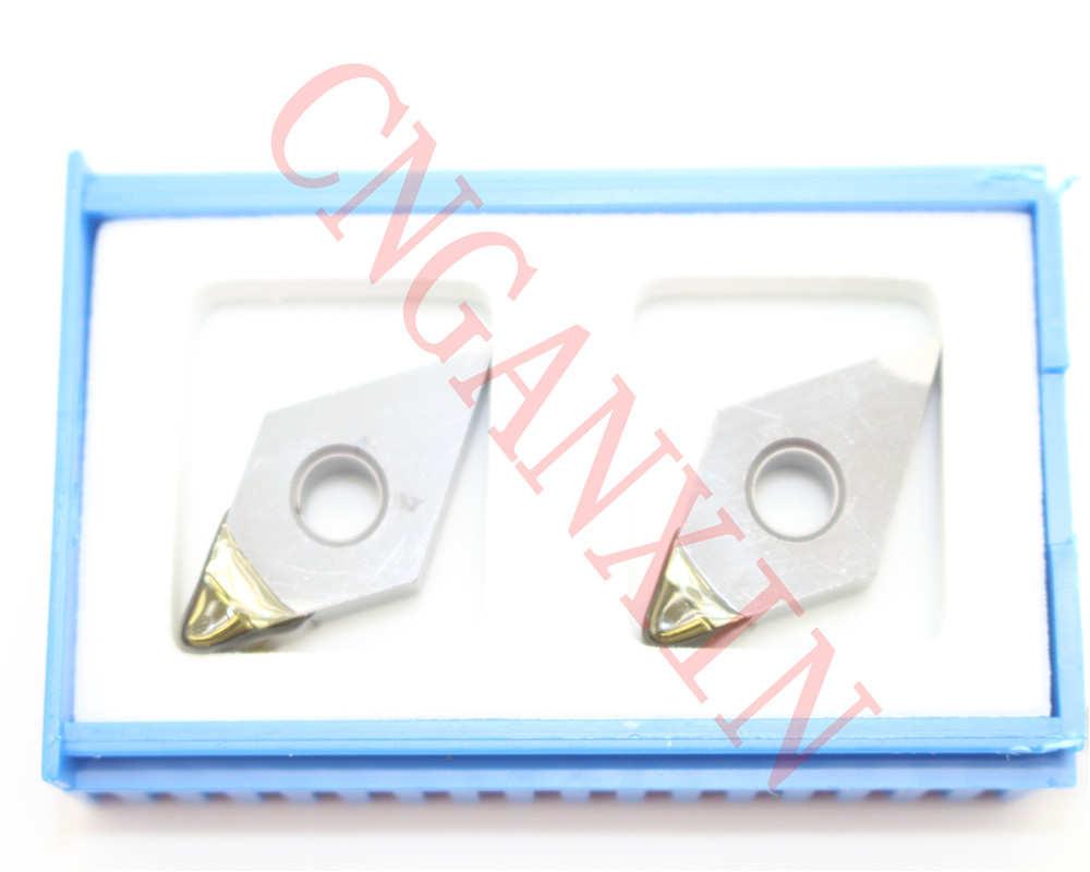 High-precision 2pcs NEW PCD VCGW160404 PCD Diamond CNC blade insert