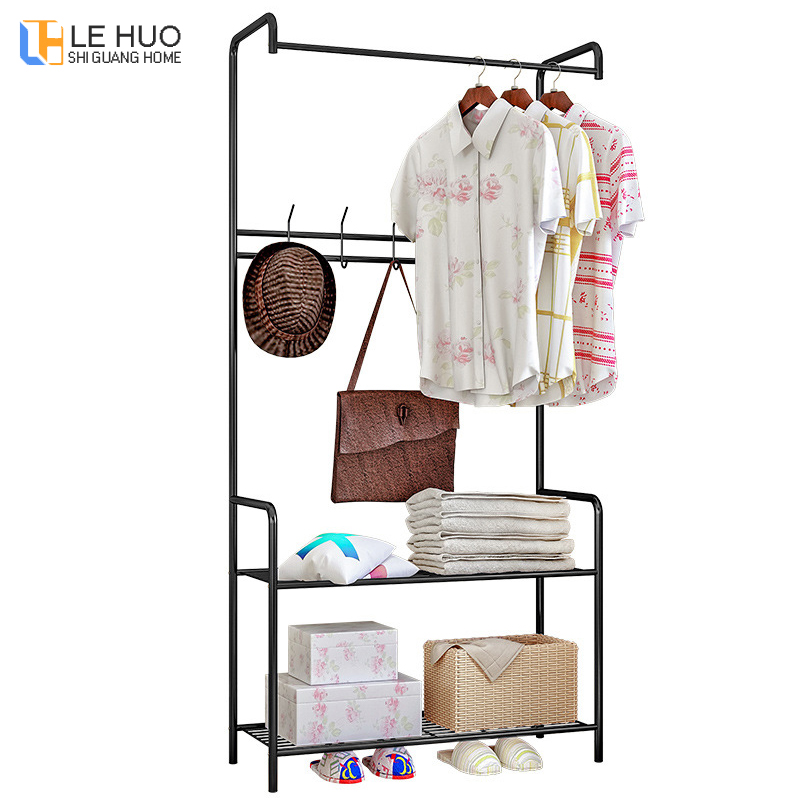 Multi-layer Coat Rack Assembly Drying rack bedroom Hanging clothes Shoes organizer storage Shelf fashion wardrobe home Furniture