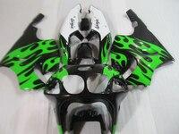 Kit carenagem da motocicleta para Kawasaki ninja ZX7R 96 97 98-03 preto verde branco conjunto carroçaria carenagens ZX7R 1996-2003 OT20