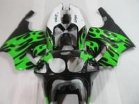 Motorcycle fairing kit for Kawasaki ninja ZX7R 96 97 98 03 black green white bodywork fairings set ZX7R 1996 2003 OT20