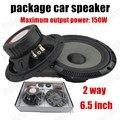 Mejor venta y la alta calidad de Un par de 2 vías 2x150 W 6.5 pulgadas paquete de altavoces de Audio Del Coche del coche estéreo de altavoces de audio