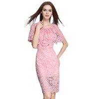 Ideal Para el verano Vestidos de Reino Unido Las Mujeres Del Cabo Del Hombro Rosa cuerpo estafa vestidos de encaje elegante lindo vestidos de robe de mariage vestidos de Renda
