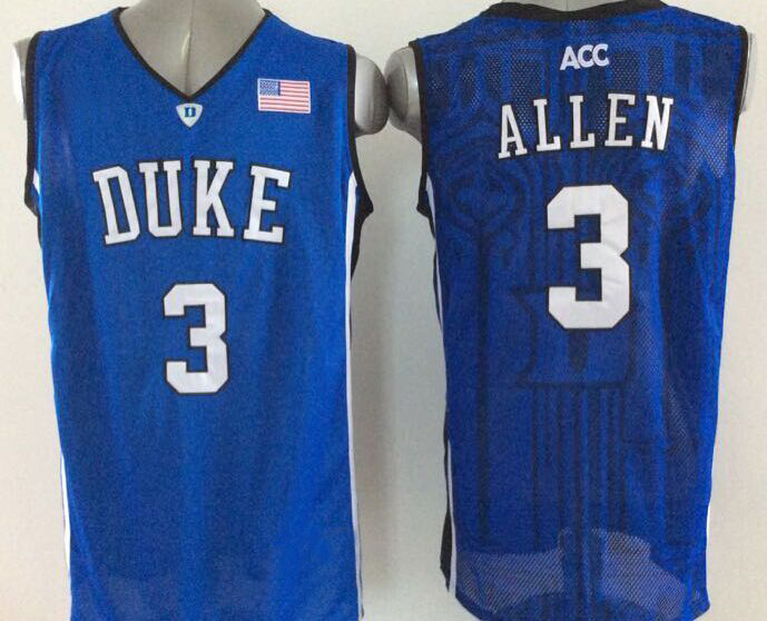 0415d9a87922  3 Grayson Allen Jersey Duke Blue Devils  1 Kyrie Irving College Basketball  Jersey Black White ACC Logo Stitched Customize-in Basketball Jerseys from  Sports ...