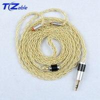 Headphones Upgrade Wire MMCX pin For se215 se315 se425 se535 se846 UE900 DIY Single Crystal Copper Hifi Earphone Cable Gold
