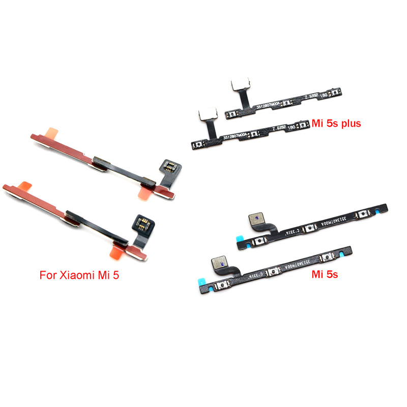 high quality switch on off lock power volume mute button flex cable for xiaomi mi 6 6x 5 5s plus