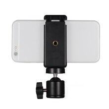"""Soporte de teléfono de 5,5 cm 8,5 cm/1/4 pulgadas pulgadas, Metal + plástico, soporte de Clip para teléfono inteligente + adaptador para cabeza de bola Flexible con tornillo de"""""""
