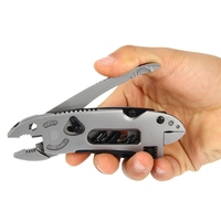 Camping Survival Multi Tool Knife Hunting Accessories Portable EDC Tools Set Gear Adjustable Wrench Jaw Screwdriver