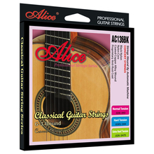 High Quality Alice AC136BK Classical Guitar Strings Black Nylon Coated Copper Alloy Wound Anti-rust Guitar Accessories