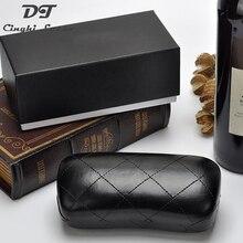 Переносные черные кожаные солнцезащитные очки для хранения, водонепроницаемые очки, аксессуары, Чехол для очков, сумка для очков, жесткий футляр для очков для чтения