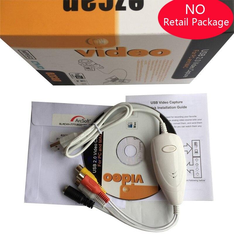 De Audio USB de captura de vídeo VHS a DVD Converter Capture tarjeta cámara de caja de tv vhs cinta a un archivo digital Windows10 Win10 y MAC