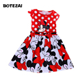 2016 new girl summer cartoon dress kids clothes girl Minnie printing dot sleeveless dress baby girls fashion dresses