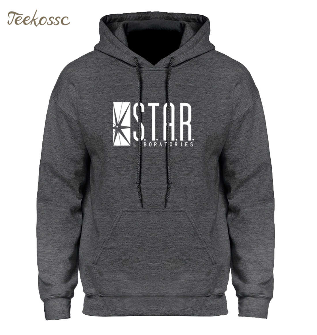 Superman Serie Ster S. t. een. r. labs Jumper De Flash Gotham City Comic Boeken Zwarte Hoodie Hoodies Sweatshirt Mannen 2018 Hooded Hoody