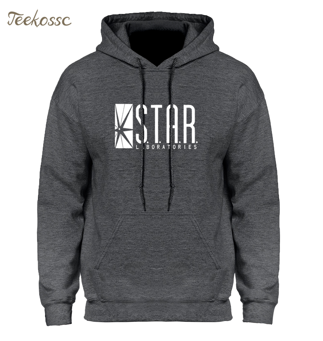 Superman Series STAR S.T.A.R.labs Jumper The Flash Gotham City Comic Books Black Hoodie Hoodies Sweatshirt Men 2018 Hooded Hoody