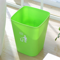 HIPSTEEN Square Shape PP Wastebasket Without Lid Trash Bin Paper Basket Garbage Trash Can Dustbin Holder
