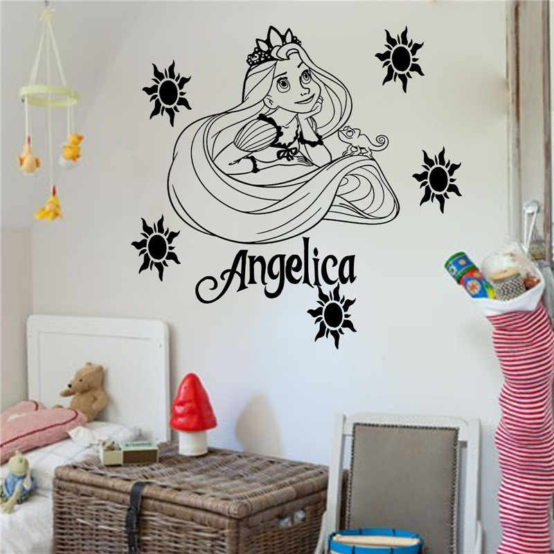 Princess Rapunzel Tangled Vinyl Wall Art Sticker Girl S Bedroom Decal Wall Tattoo Mural For Kid Room Home Decor Mural For Kids Girls Bedroomwall Tattoo Aliexpress