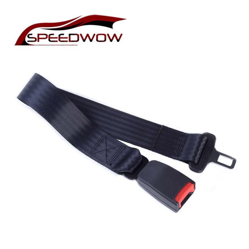 SPEEDWOW 71.5cm Car Auto Safety Seat Belt Seatbelt Extender Extension Belt Car Seat Belt Buckle Extender Strap Safety цены